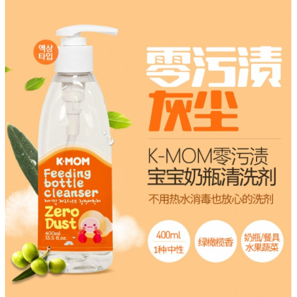 K-MOM Zero-Dust Feeding bottle Cleanser(Green Olive)