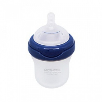 Mother-K Silicone Feeding Bottle - Blueberry 180ml