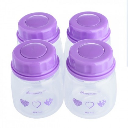 Autumnz Standard Neck Breastmilk Storage Bottles 2oz (4 bottles)