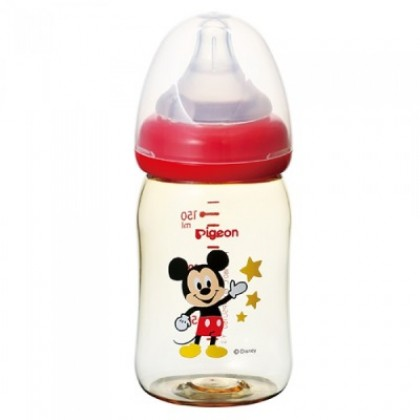 Pigeon Wide Neck PPSU Bottle 160ml/5oz - Disney Baby Mickey