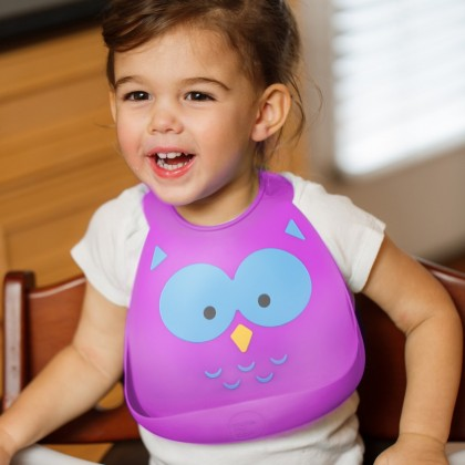 Make My Day Baby Bib-Owl