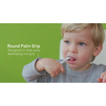marcus & marcus 3-stage palm grasp toothbrush set