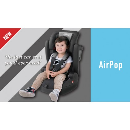 Graco Airpop  Booster Seat - Grey