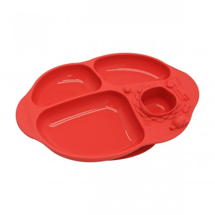 Marcus & Marcus' Yummy Dips Suction Divided Plate