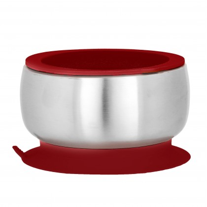 AVANCHY Stainless Steel Suction Baby Bowl + Air-tight Lid
