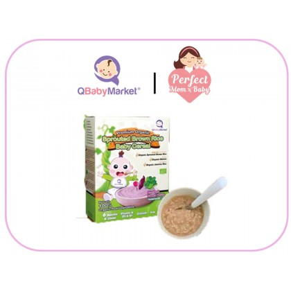 Q BABY MARKET Premium Organic Sprouted Brown Rice Baby Cereal ( 6 Months And Above )