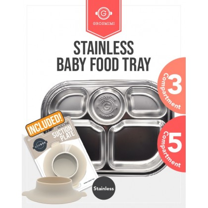 [Grosmimi] Stainless Baby Food Tray