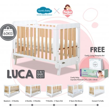 COMFY BABY Cot Bed - New Luca (Wood)