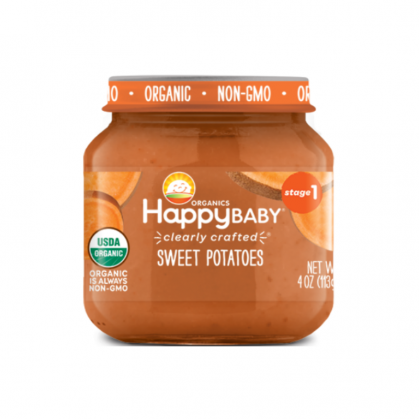 Happy Baby Stage 1 Organic Clearly Crafted Jar (6+MONTHS)