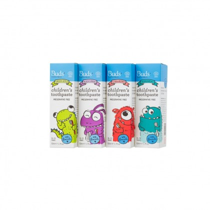 Buds Oralcare Organics - Childrens Toothpaste with Fluoride (3 years & above)