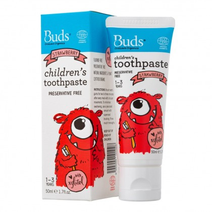 Buds Oralcare Organics - Childrens Toothpaste with Xylitol (1-3 years)