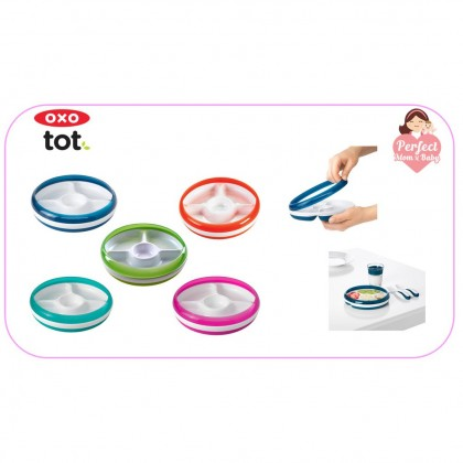 Oxo Tot Divided Plate with Removable Ring