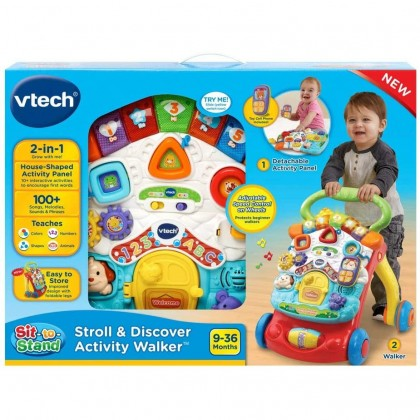 VTECH Sit-To-Stand Stroll & Discover Activity Walker