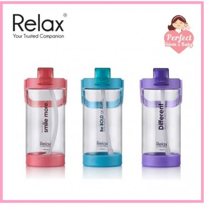 RELAX 1400ML TRITAN WATER BOTTLE WITH STRAW