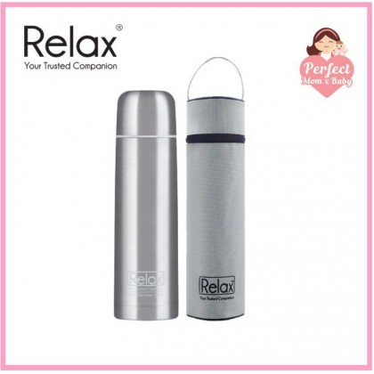 RELAX STAINLESS STEEL CLASSIC & SIGNATURE THERMAL FLASK WITH FREE POUCH