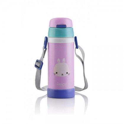 RELAX 360ml 18.8 STAINLESS STEEL KIDS THERMAL FLASK WITH STRAW