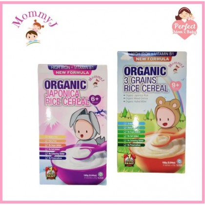 (New formula with Iron Fortified) MommyJ Baby Organic Rice Cereal 160G (6+/9+mths)