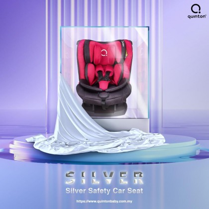 QUINTON Silver Safety Car Seat (Red / Grey)