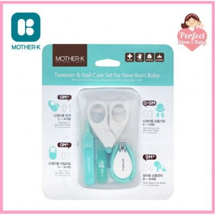 Mother-K Baby Nail Clipper / Nail Care Set / Tweezer & Nail Care Set for Newborn Baby
