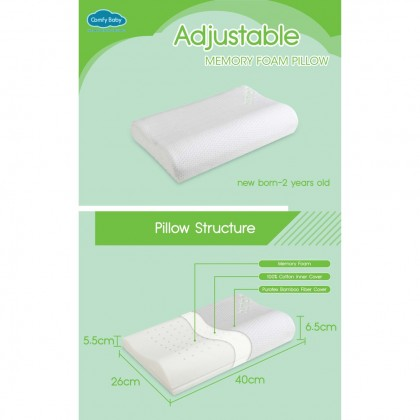 COMFY BABY PUROTEX ADJUSTABLE BABY PILLOW / COVER