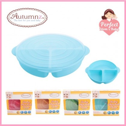 AUTUMNZ Baby Divided Plate With Lid