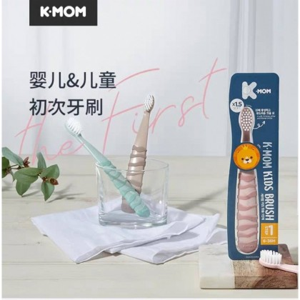 K-MOM Kids Toothbrush (STEP 1 / STEP 2) / Toothpaste with Non Fluoride / Fluoride