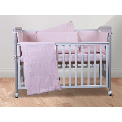 COMFY LIVING 6 in 1 Bedding Set - Replacement (Pillow / Bolster / Comforter / Fitted Sheet / Cot Bumper)