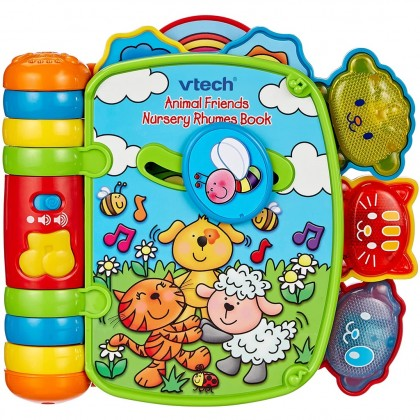 VTECH Animal Friends Nursery Rhymes Book for 9-36 months Infant Toddler Early Development Toys - Sound Book
