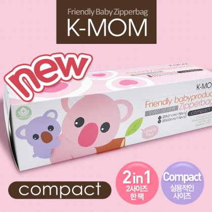 K-Mom Anti-bacterial Zipper Bag Compact, 30 pcs