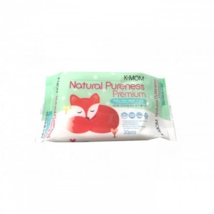 K-Mom: Natural Pureness Premium Baby Wet Wipes 20pcs