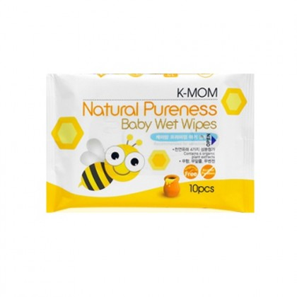 K-Mom: Natural Pureness Baby Wet Wipes - 10pcs