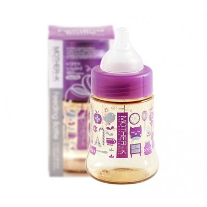 Mother-k PPSU feeding bottle 180ml - Purple